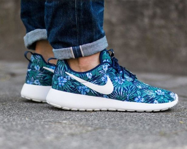 nike roshe one print premium loyal blue