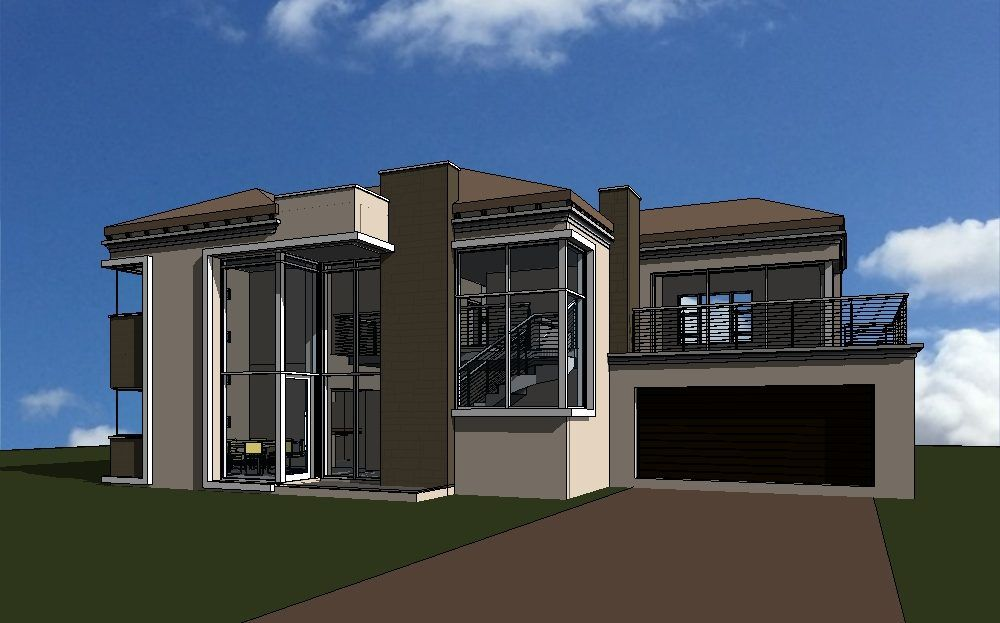 6 Bedroom Double Storey House Plans In South Africa Nethouseplansnethouseplans House Plans South Africa Double Storey House Modern House Plans