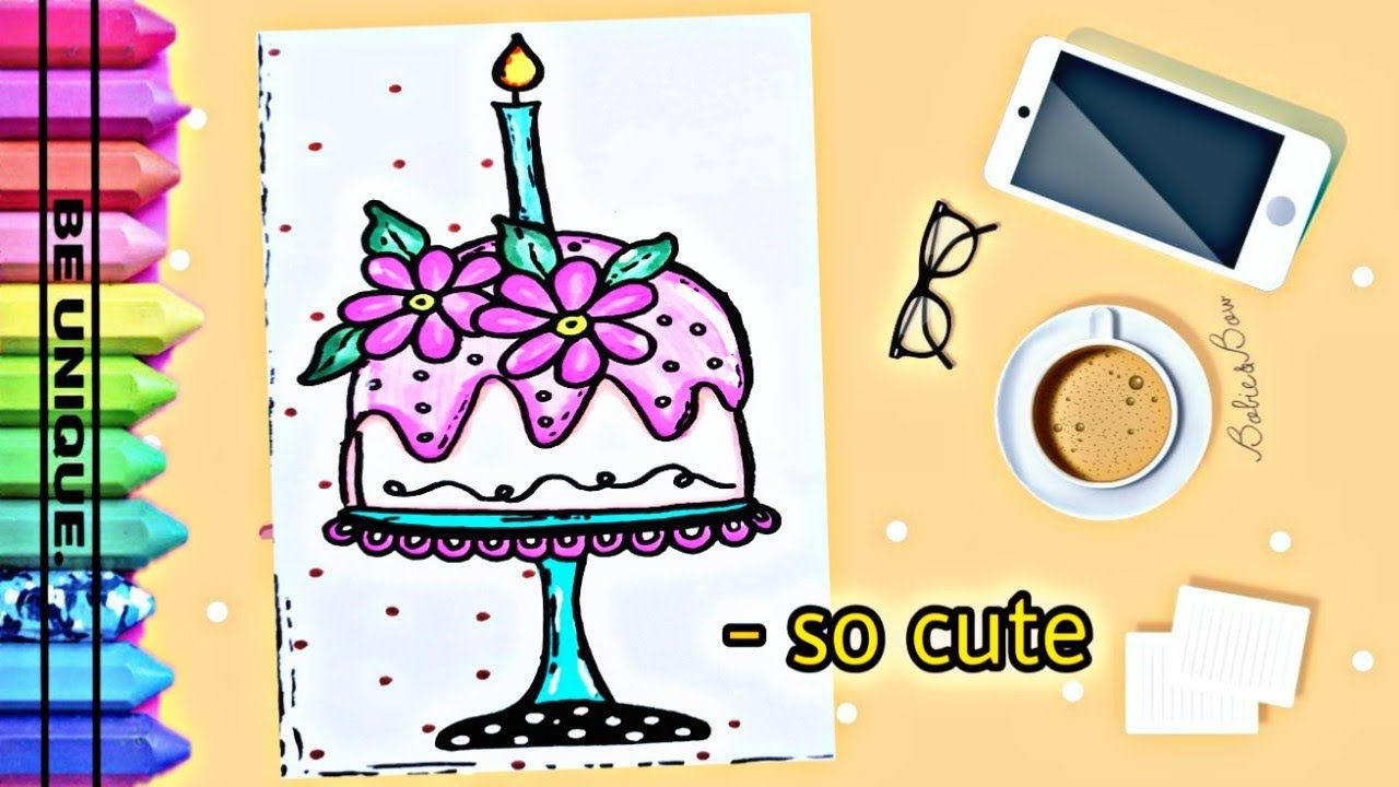 Drawing To Decorate Notebook Cake تعليم الرسم تزيين دفاتر مدرسية Cute Unique Supplies