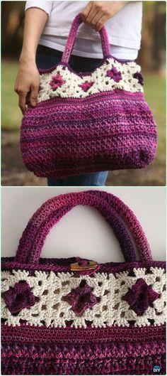 Crochet Handbag Free Patterns & Instructions | Free pattern, Crochet ...
