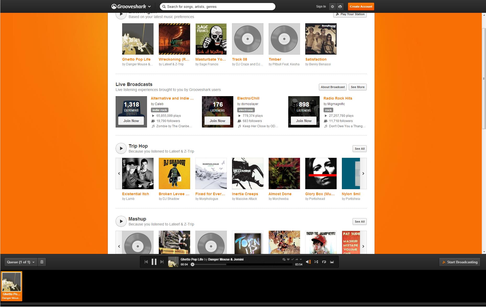 Grooveshark  The Best Radio On The Internet