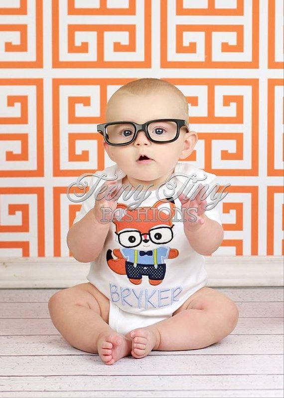 Nerdy Fox Shirt ~ Fox Shirt ~ Baby Fox Shirt ~ Boys Fall Shirt ~ Halloween Outfit ~ Baby First Halloween Shirt ~ black Glasses Shirt on Etsy, $23.00