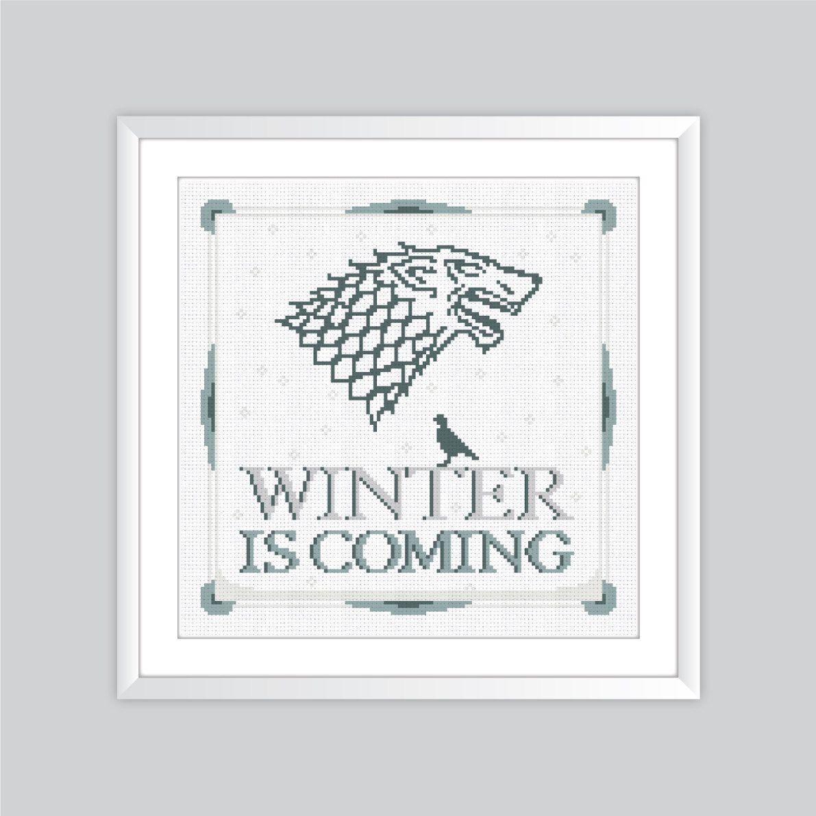 Game of Thrones House Stark Crest - Cross Stitch Pattern