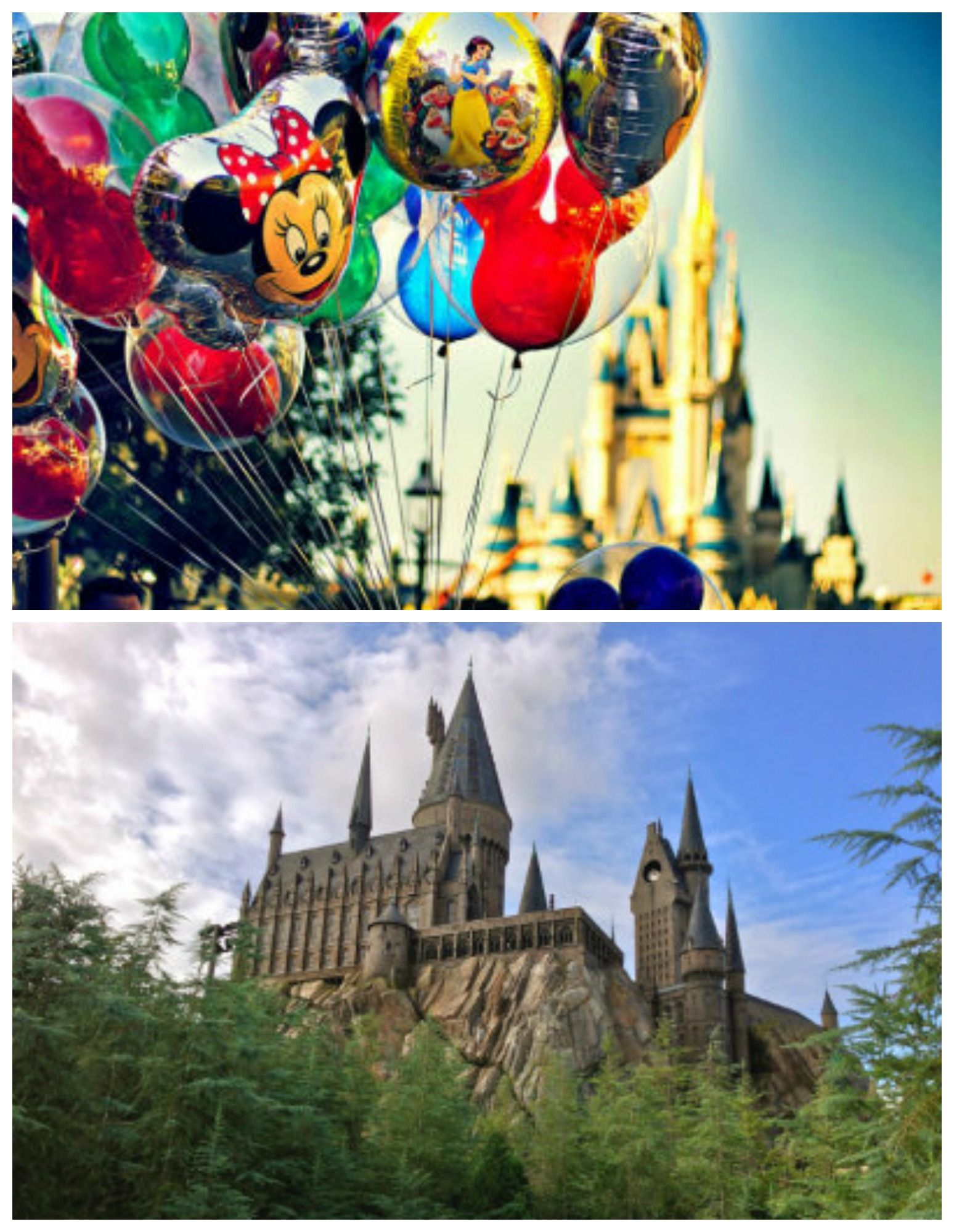 Disney World and The Wizarding World of Harry Potter in e Trip