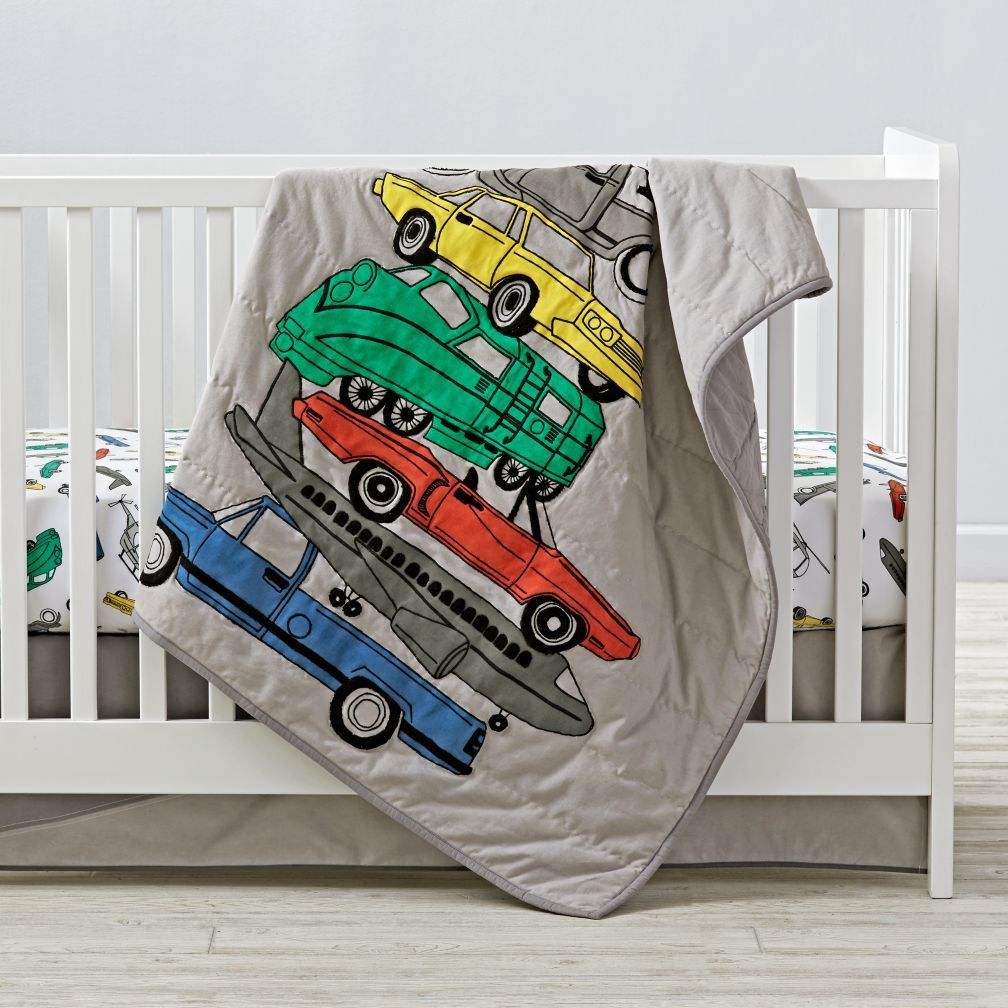 Our Traffic Jam Crib Bedding Is 100 Cotton And Features A Variety Of Clic Vehicles Perfect For Your Nursery Transportation Today