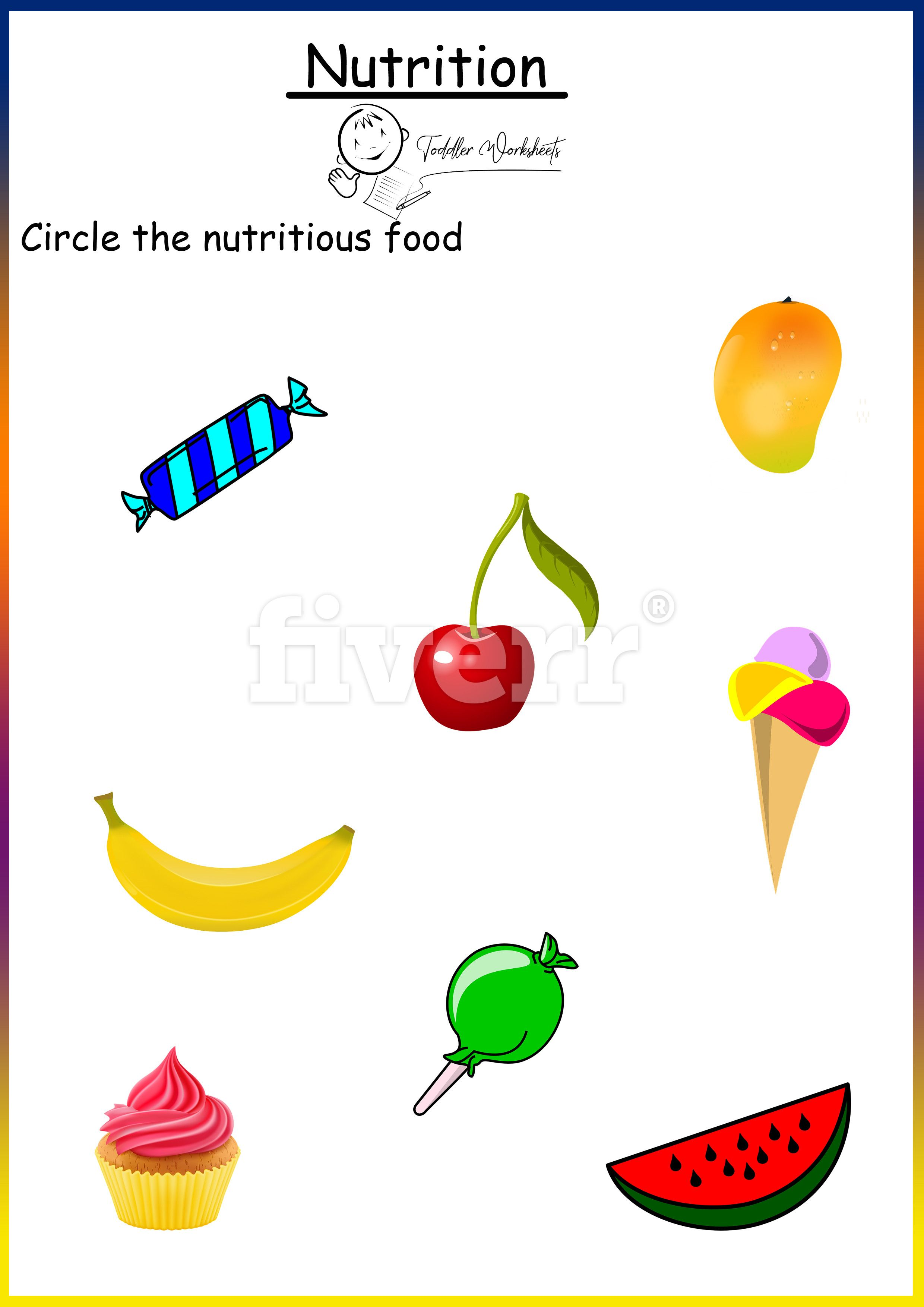 Preschool Free Worksheets Nutrition