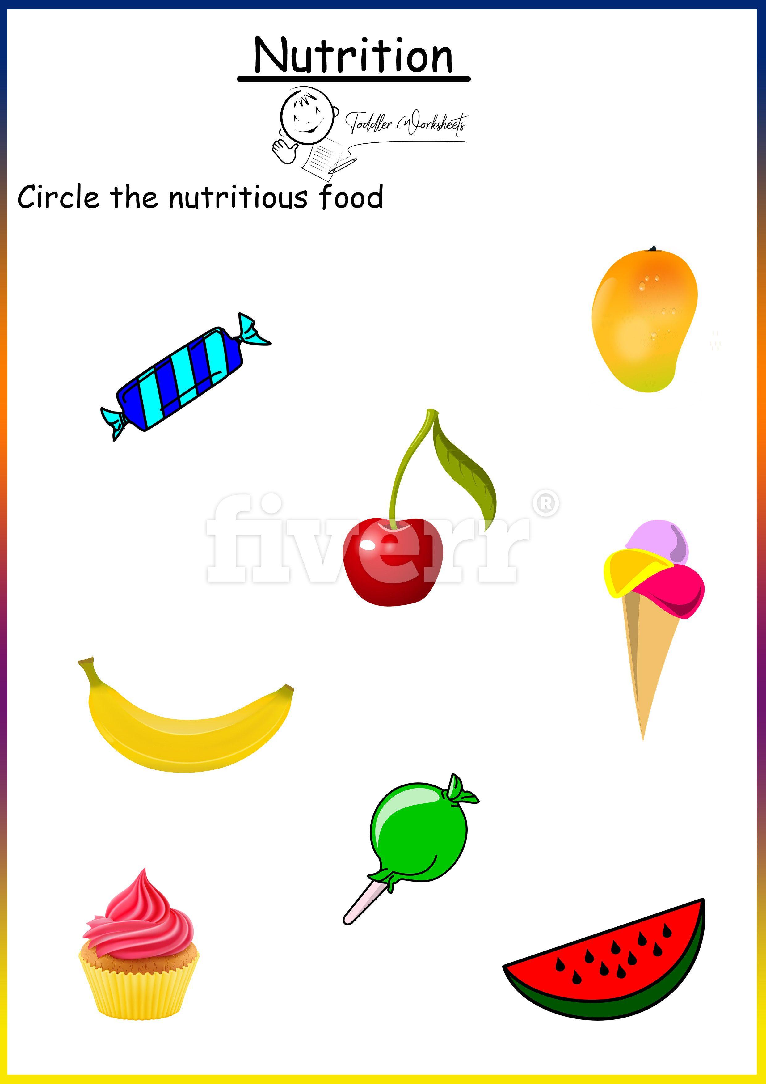 Preschool Free Worksheets Nutrition