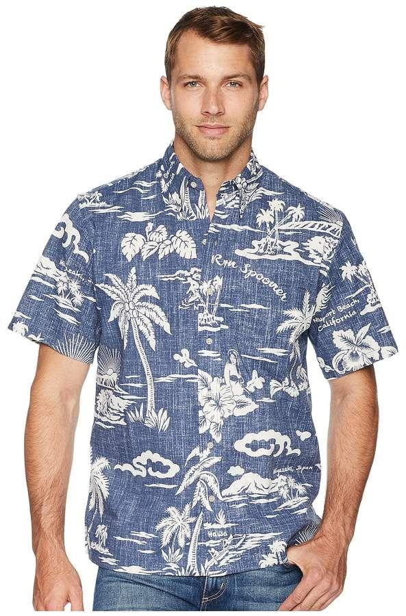 adad00cf Reyn Spooner My Private Isle Classic Fit Aloha Shirt Men's Short Sleeve Button  Up
