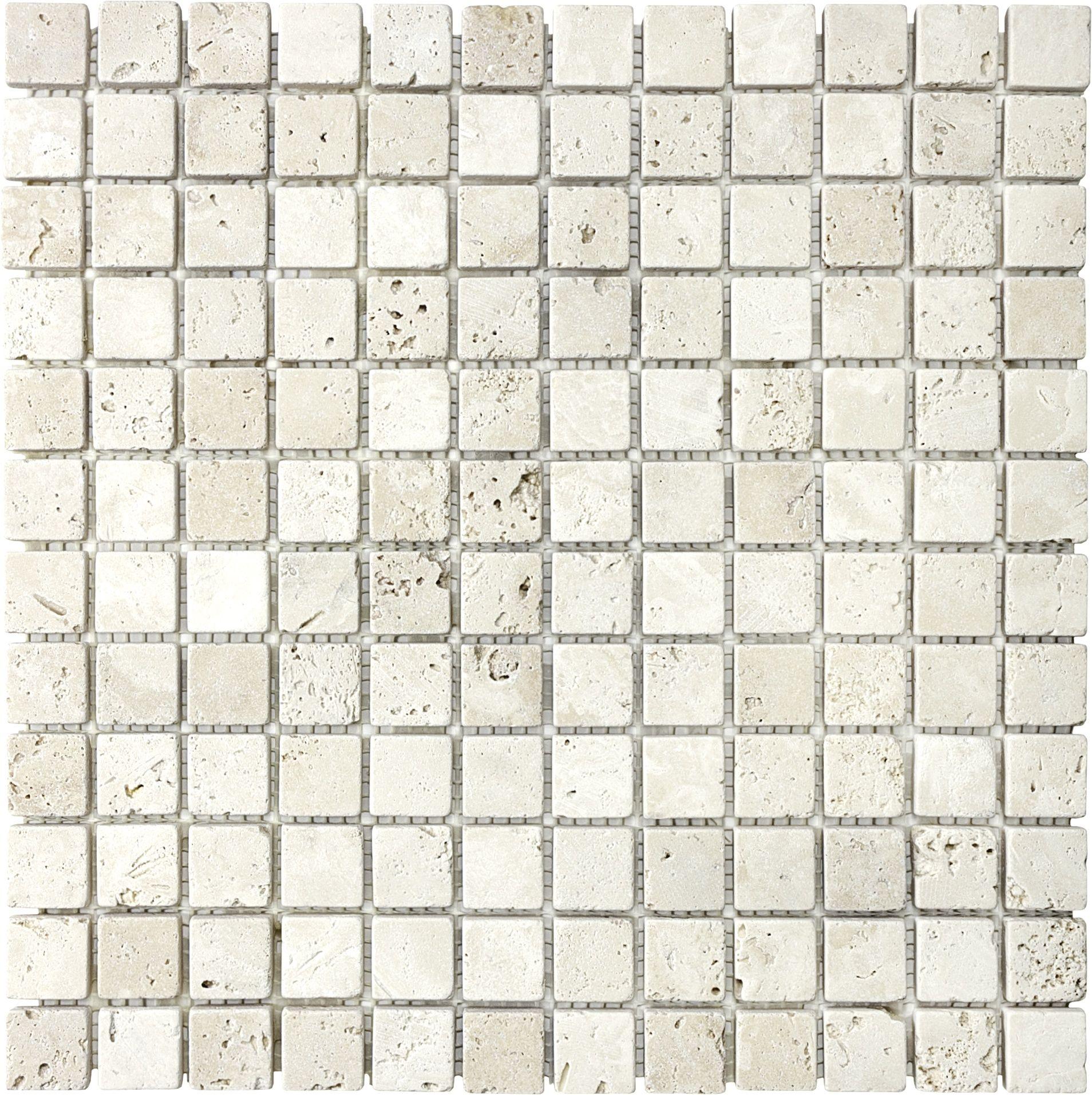 76 013 1 Quot X1 Quot Tumbled Ivory Travertine Mosaics Travertine