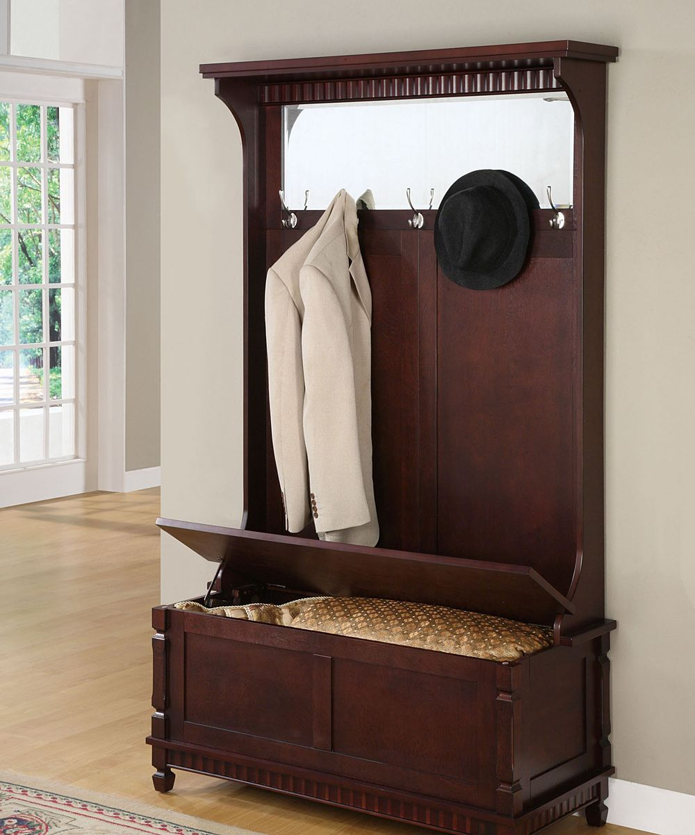 Entry hallway furniture  Contemporary Merlot Hall Tree  Daily deals for moms babies and
