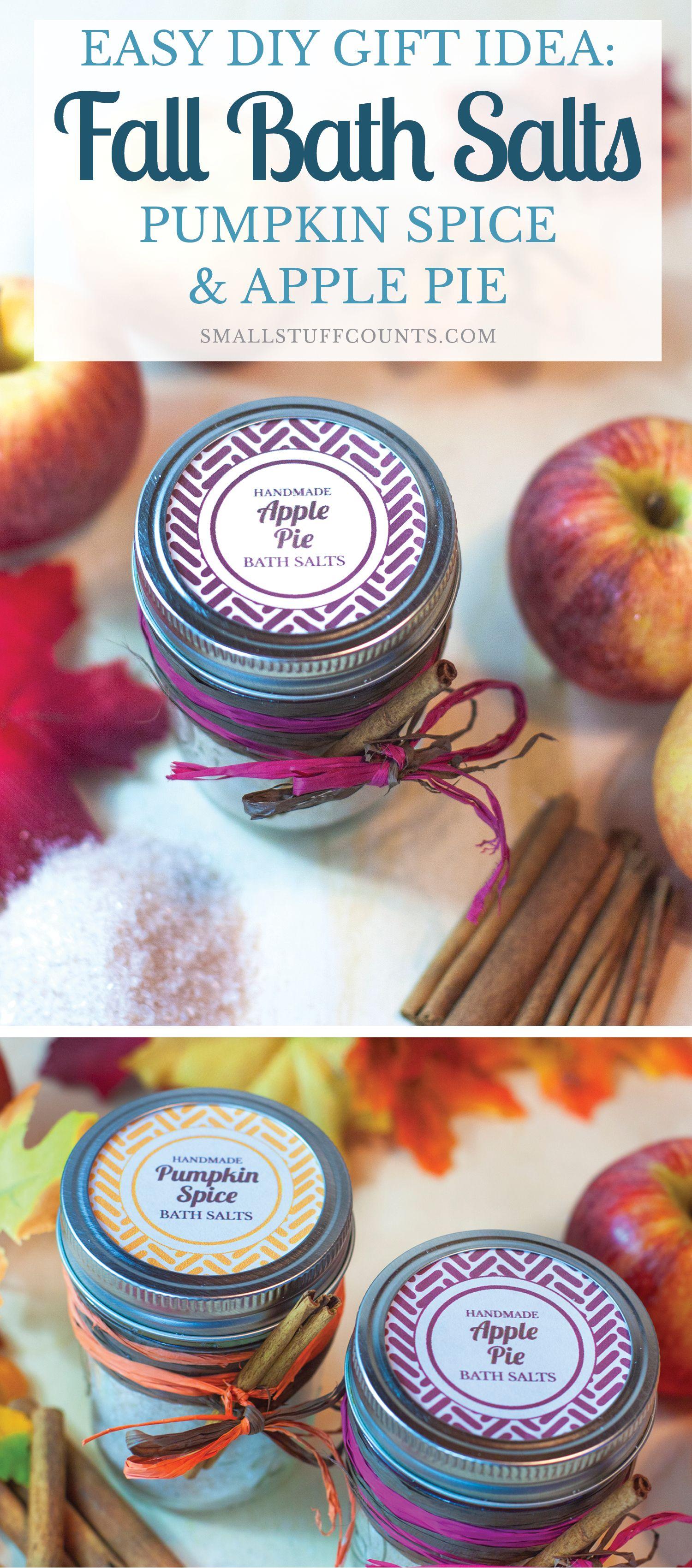 Easy pumpkin spice apple pie fall diy bath salts diy bath christmas gifts negle Choice Image