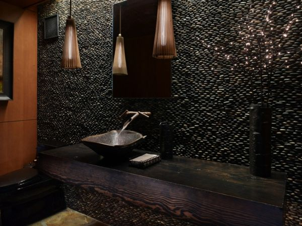 GroBartig Luxus Badezimmer Deko Dunkel Damentoilette Rustikal Einrichtung