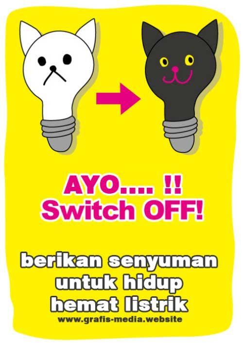 12 Contoh Poster Tentang Hemat Energi Listrik Serta Slogan Hemat Listrik Poster