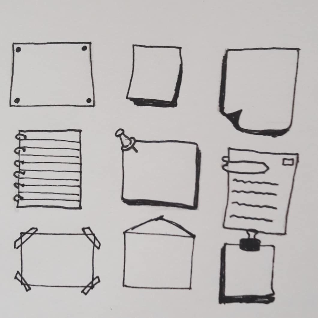 Bullet Journal Drawing Ideas Bullet Journal Note Paper