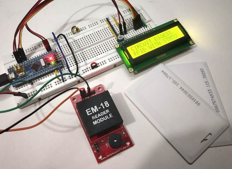 Interfacing RFID with STM32 Microcontroller | STM32 Projects