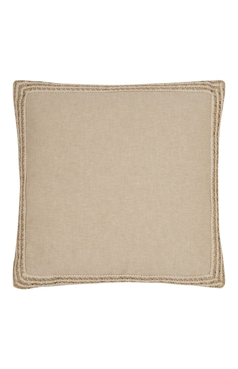 Criss Cross Edge Jute Cushion