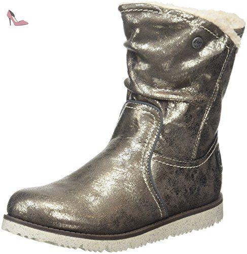 s.Oliver 56609, bottes courtes avec doublure chaude Fille, Argent (Pewter  915
