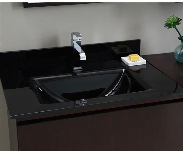 Superbe Xylem Black Glass Vanity Top With Integrated Rectangular Bowl GSTXXXBK.  H1Xylem Black Glass Vanity Top With Integrated Rectangular Bowl  GSTXXXBK_h1The Xylem ...