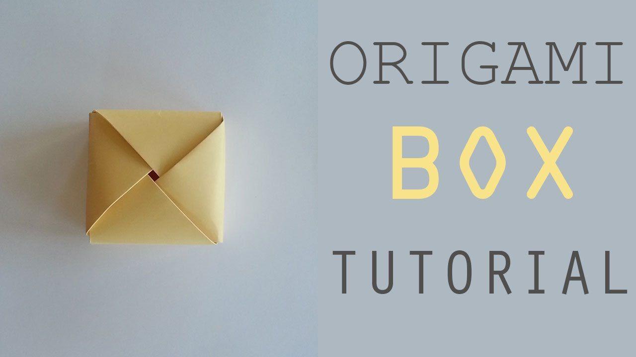 Easy Origami Square Box Tutorial