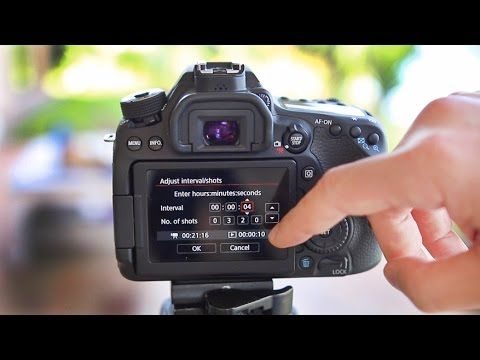 Canon 80D Tutorial - How to set up Timelapse Video