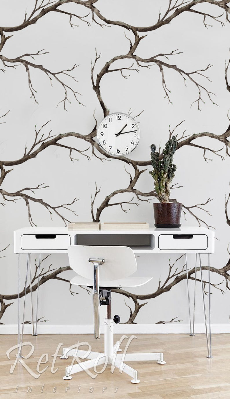 Tree Branches removable wallpaper, nature wallpaper