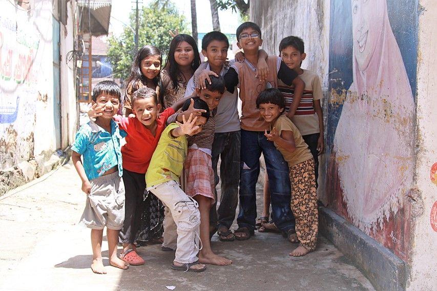 Bambini indiani ~ Bambini per i vicoli di fort cochin foto di samuele fracasso