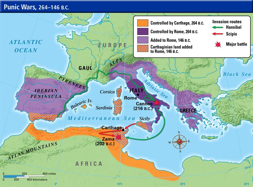 a history of rome and carthage in first and second punic wars The second punic war lasted 17 years and was larger in scope than the first conflict between carthage and rome after wresting spain from carthage in 206 bc, he emerged as rome's chief military figure, and it was he who proposed carrying the war to africa.