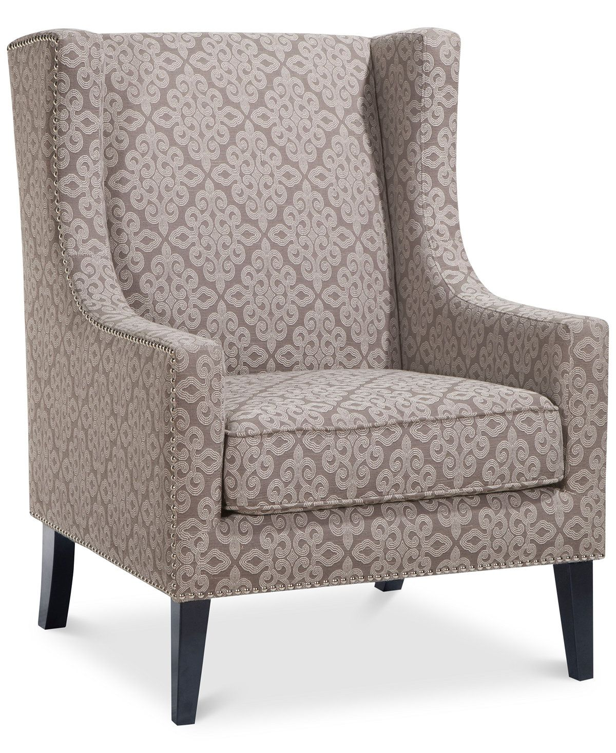 sloane fabric accent chair quick ship  furniture  macy's  fort  - sloane fabric accent chair quick ship  furniture  macy's
