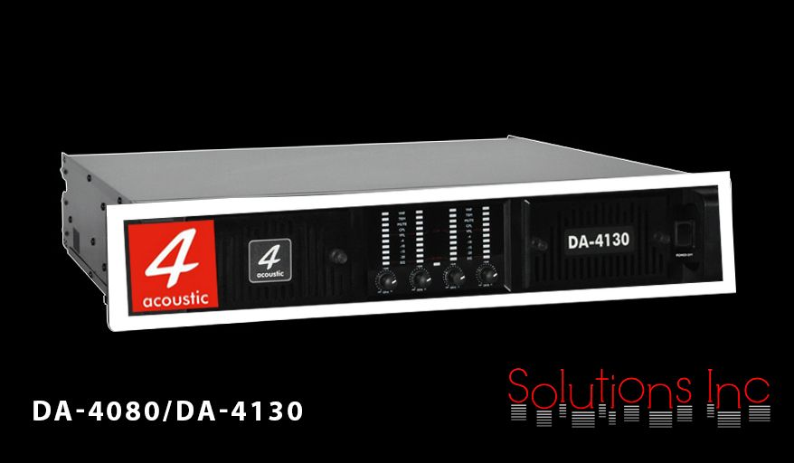 DA-4080 and DA-4130 are multifunctional 4-channel