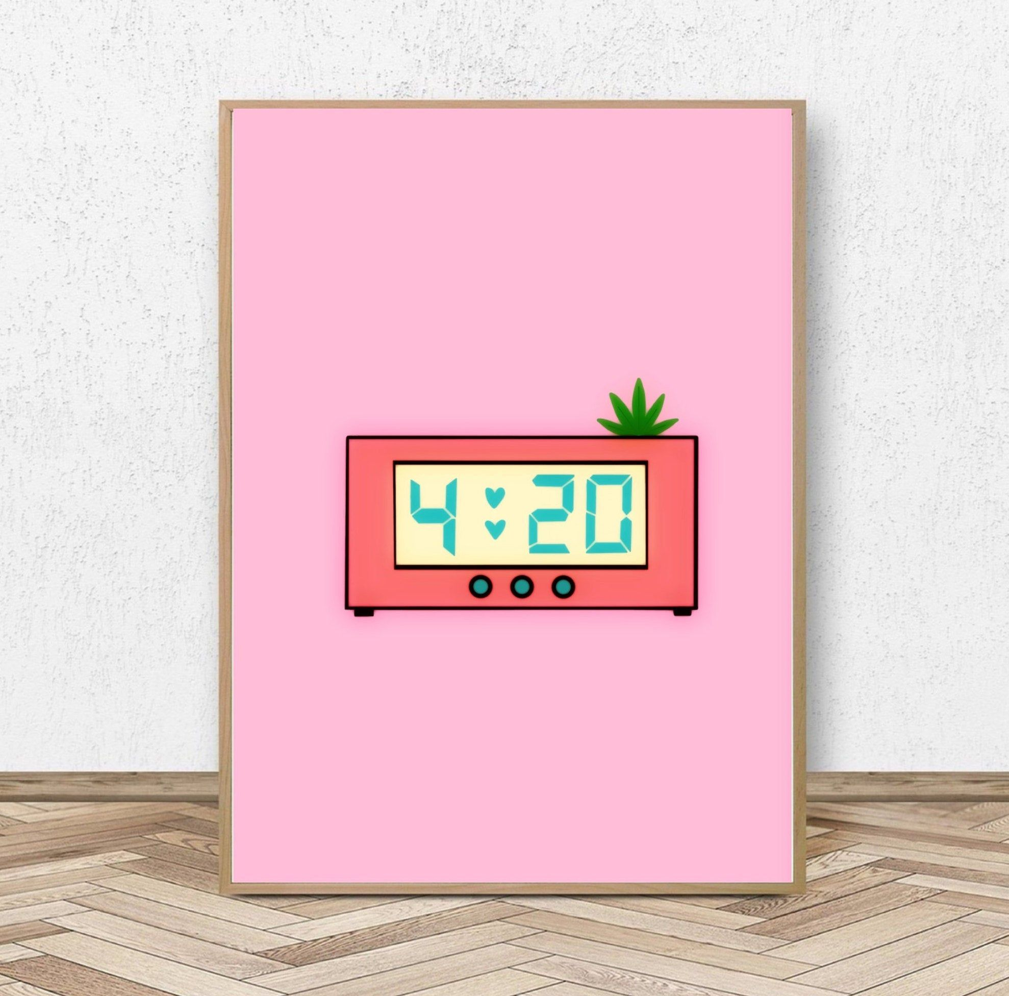 Cute 420 Clock Print - Matte Art Prints - Multiple