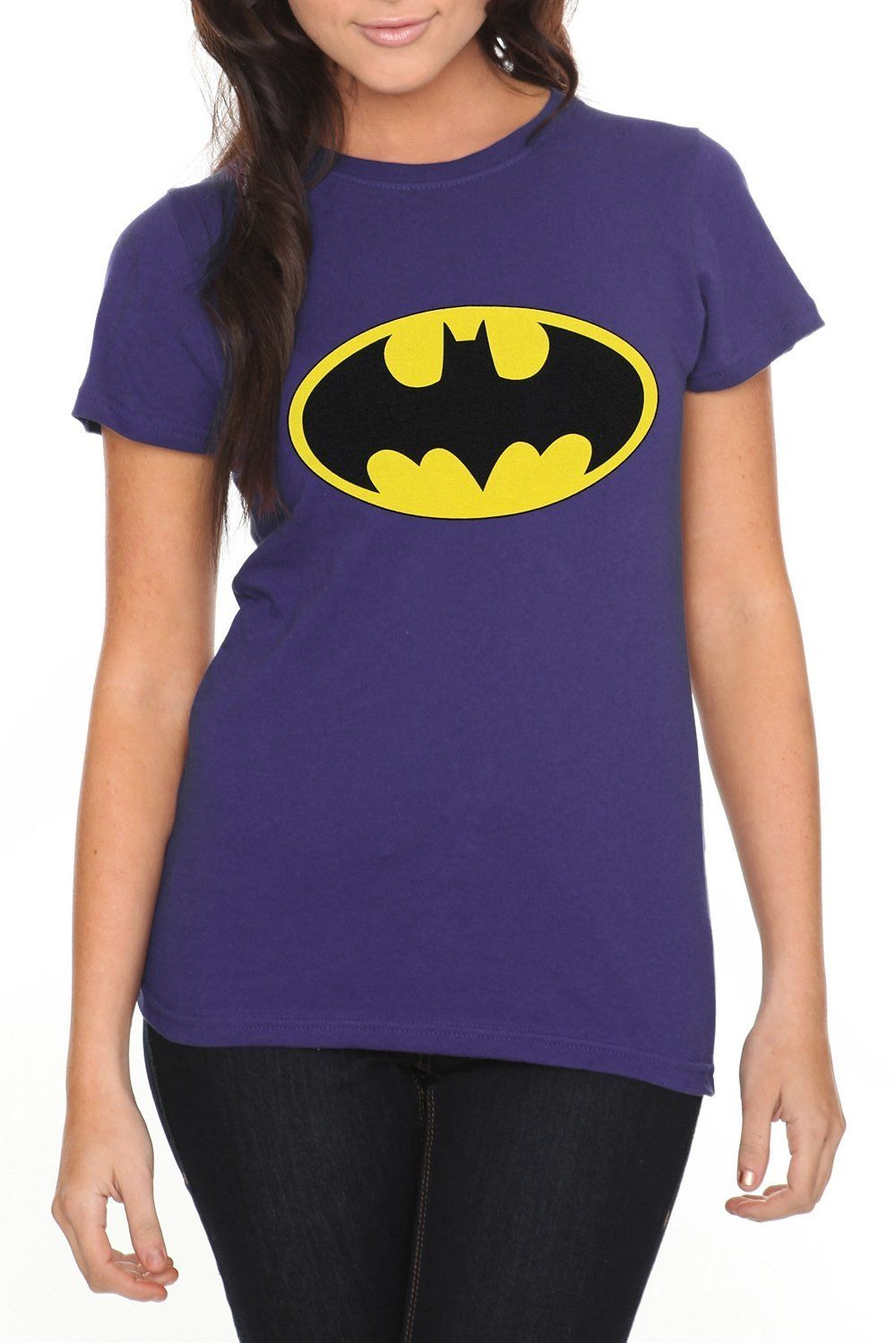 aa0b23b7 DC Comics Batman Logo Purple Girls T-Shirt | DC Comics | Batman ...