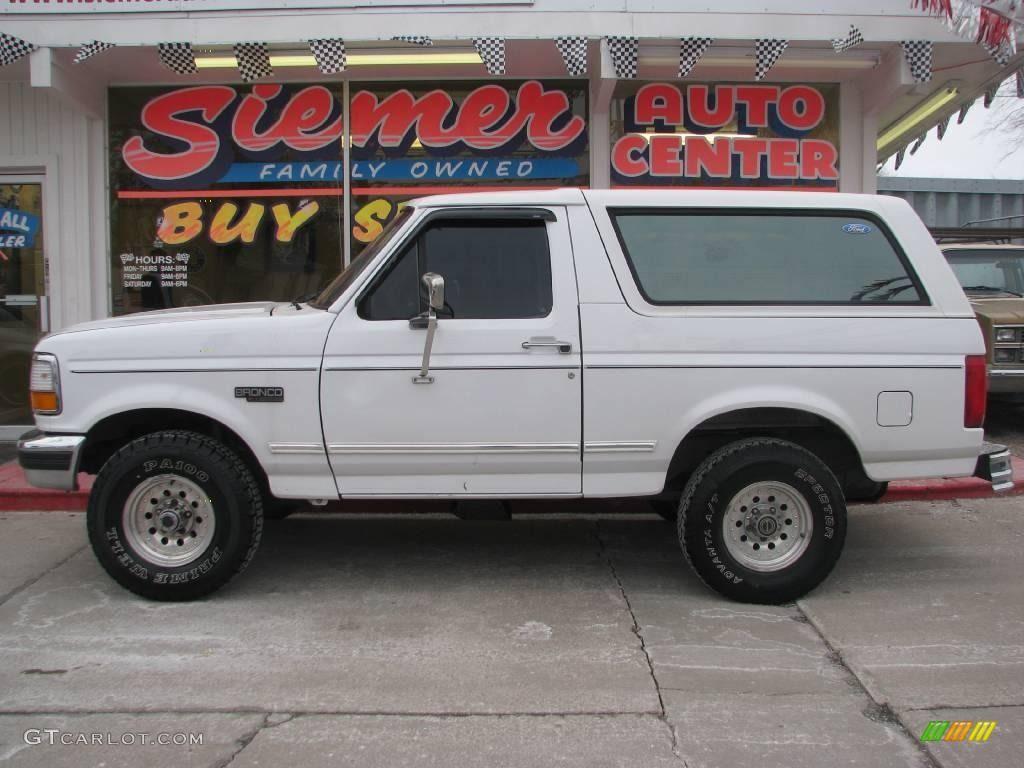 Ford Bronco 1996 1996 Bronco Xlt 4x4 Oxford White Beige