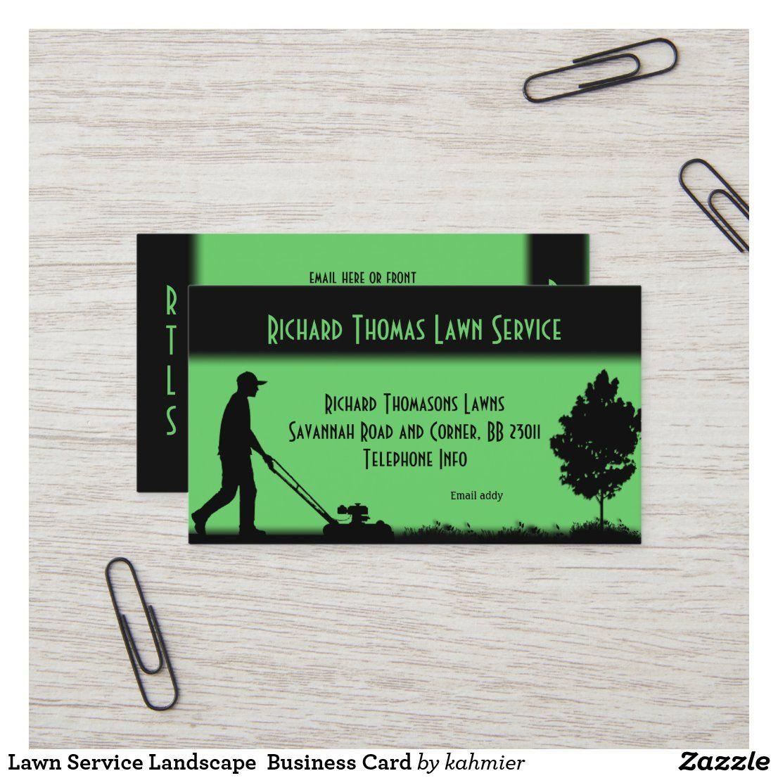 Lawn Service Landscape Business Card Estándar, 8,9cm x 5