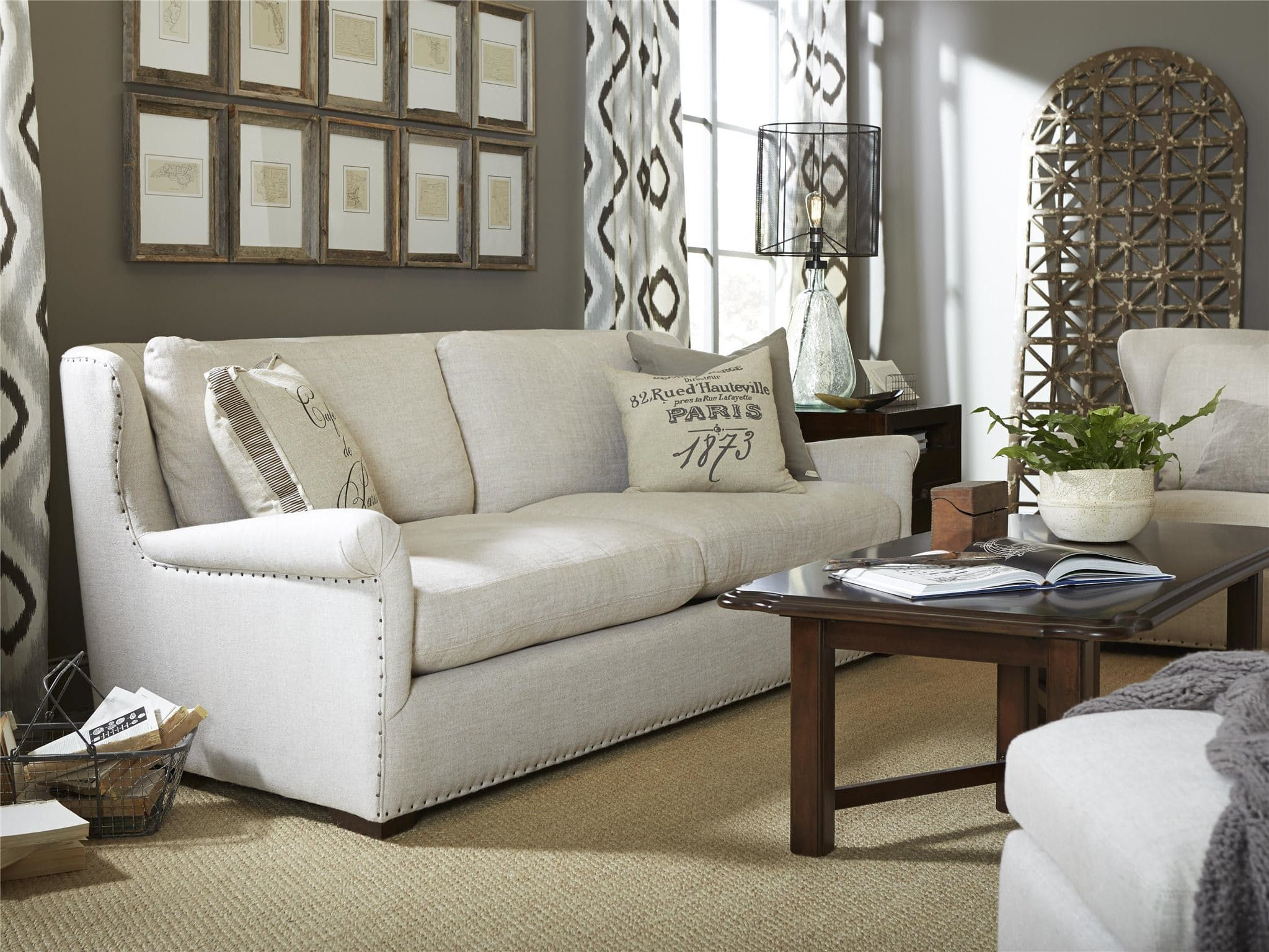 Universal Furniture Living Room Haven Sofa   Howell Furniture   Beaumont  And Nederland, TX And Lake Charles, LA
