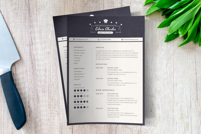 Chef cv template by victorthemesnx on envato elements cv