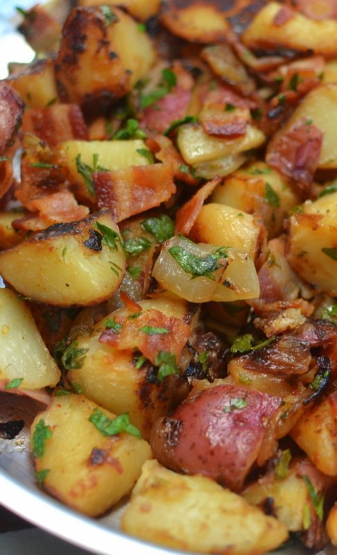 This Skillet German Potato Salad is darn near the best potato recipe I have ever… #potatosalad