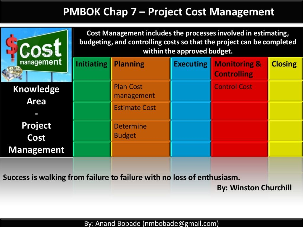 PMP Chap 7 - Project Cost Management by Anand Bobade via