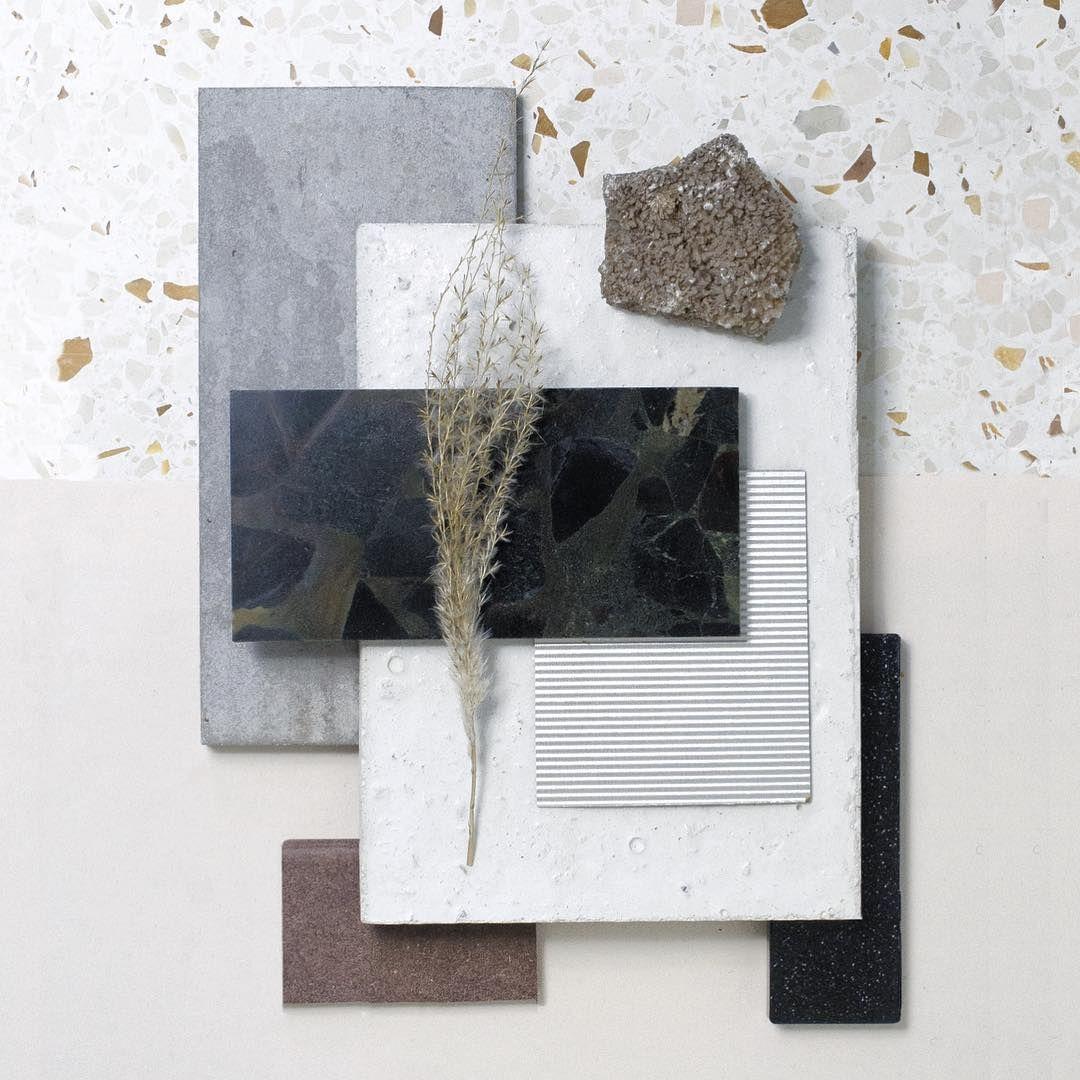 Interior Design Mood Boards, Moodboard Interior Design, Colour Board,  Concrete Stone, Concrete