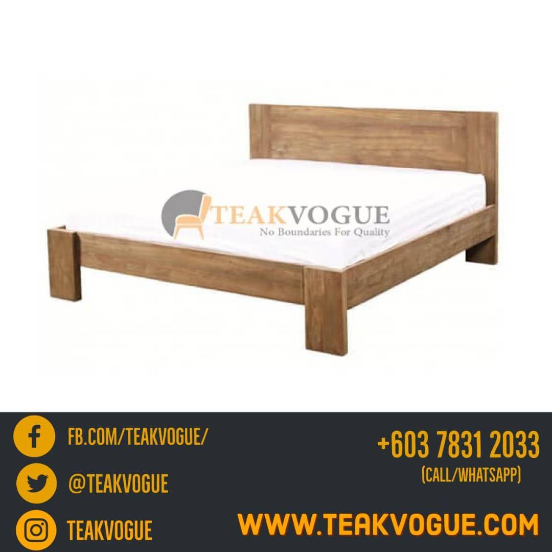 Iguazu Teak Bed Queen Size Teak Wood Bed Frames Malaysia Bed