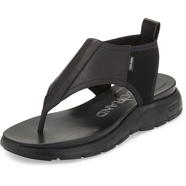 ed9907944d6b Cole Haan ZeroGrand™ Leather Mesh Thong Sandal ( 160) ❤ liked on Polyvore
