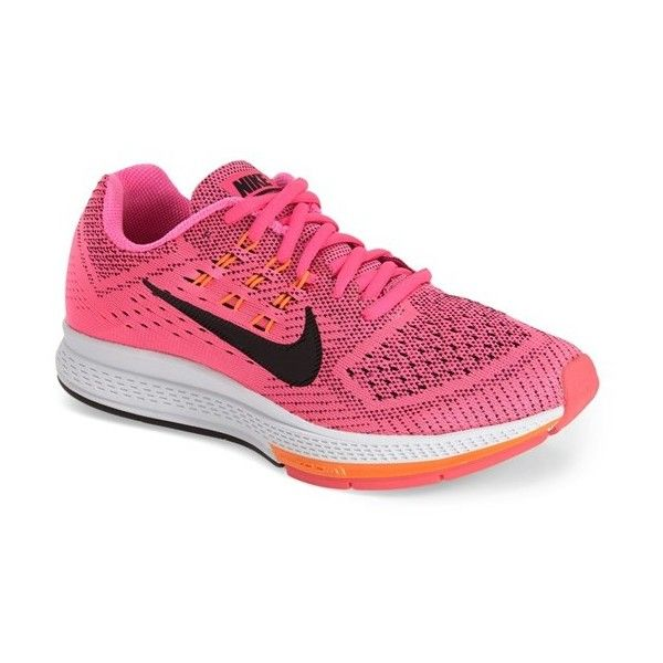 Women's Nike 'Air Zoom Structure 18' Running Shoe ($115) ❤ liked on Polyvore featuring shoes, athletic shoes, light weight running shoes, nike footwear, cushioned shoes, mesh running shoes and mesh athletic shoes