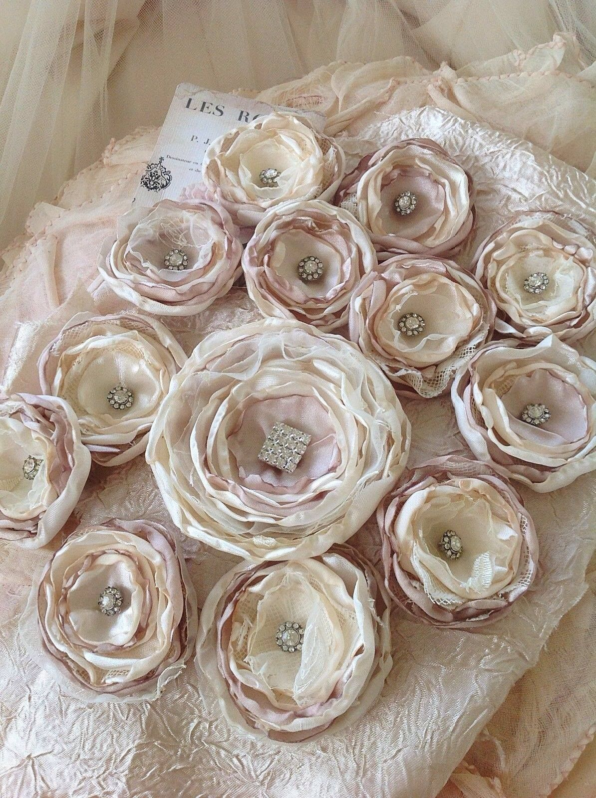 Beautiful handmade flowers chris pinterest flower fabric beautiful handmade flowers mightylinksfo