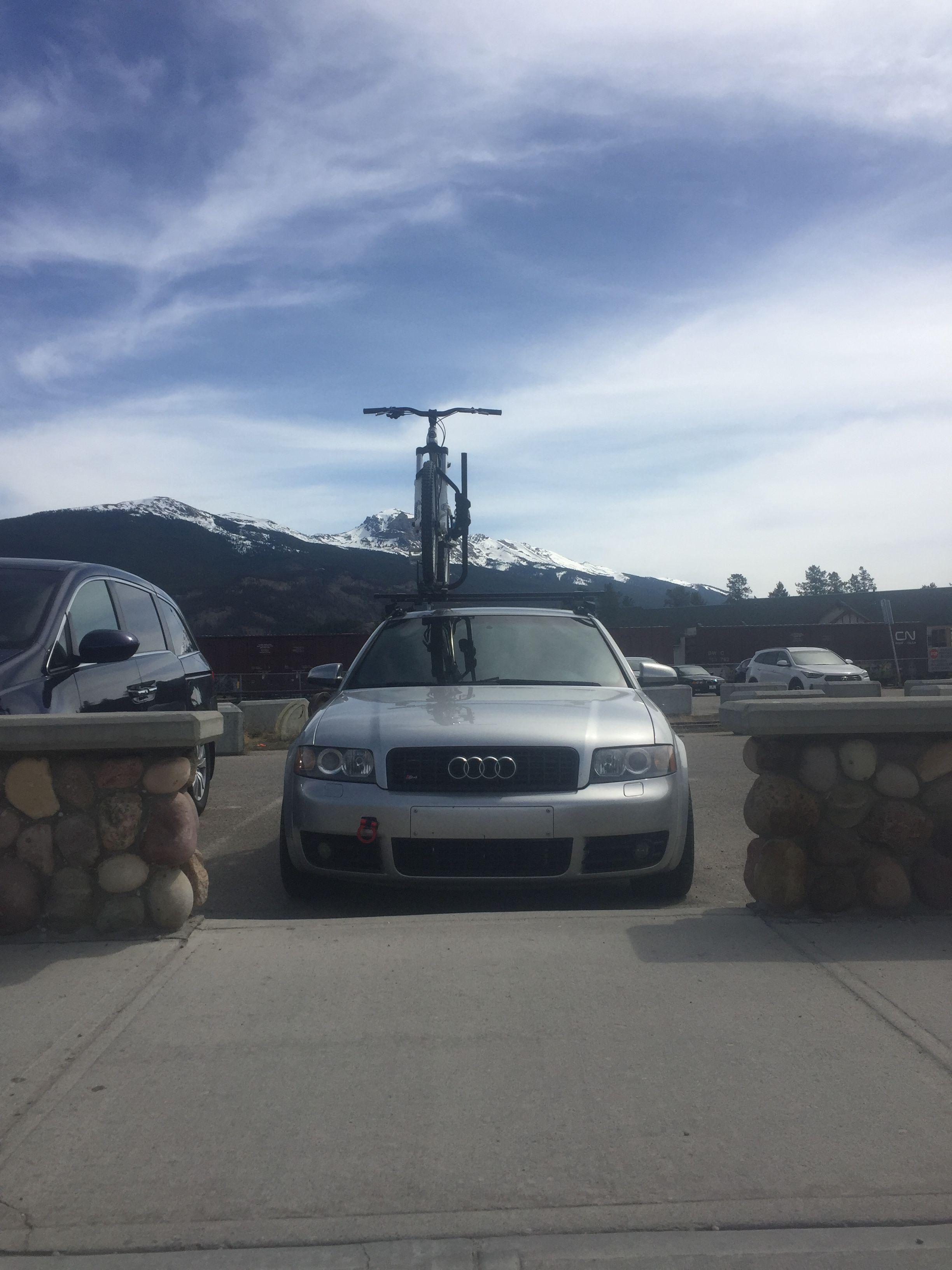 B6 S4 With Roof Bike Rack