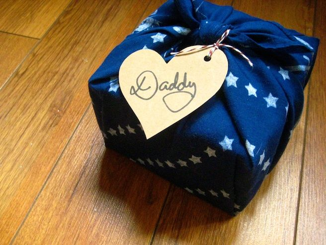 Wrap a gift in another gift! Bandana, handkerchief, scarf, or yardage for the crafter or for reuse year after year! Check out this post at From Scratch for more green gift wrap ideas.