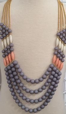 Love this pastel beaded necklace! Dress it up or down.