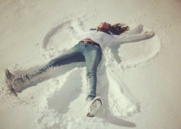 Image result for making snow angels gif