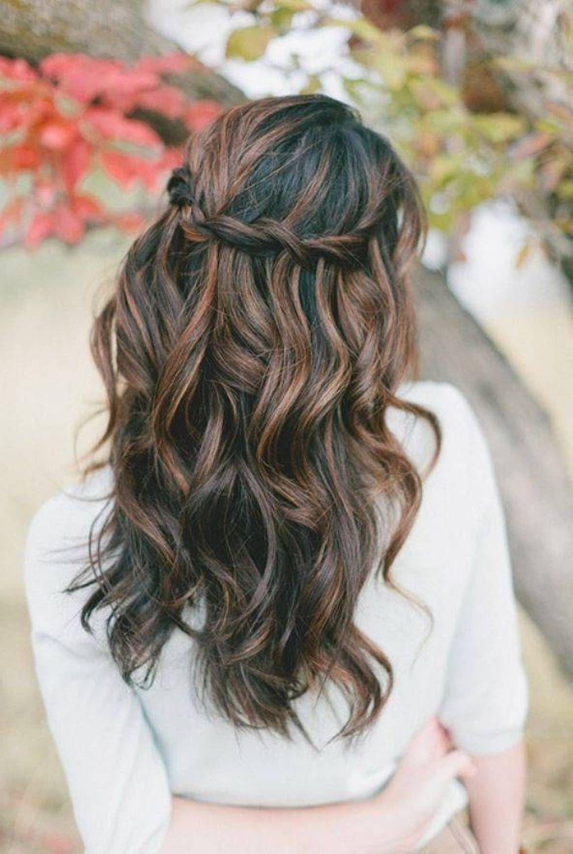 Beautiful Wavy Dark Hair With Highlights