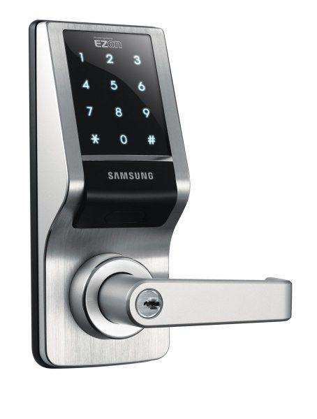 Samsung Ezon Touchpad Digital Door Lock Black 8 75 H X 3 4 W X 2 72 D Digital Door Lock Smart Door Locks Doors