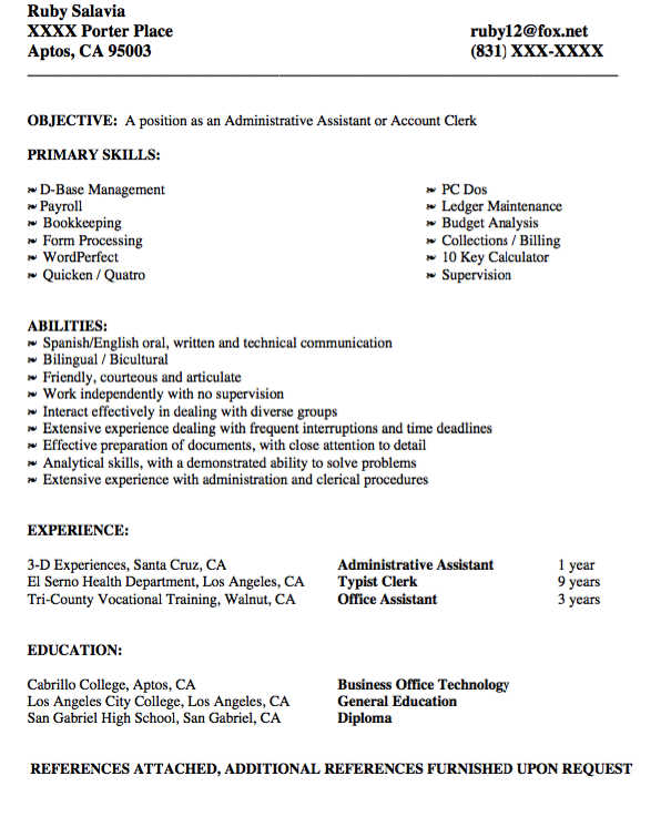administrative assistant resume example - http://exampleresumecv.org ...