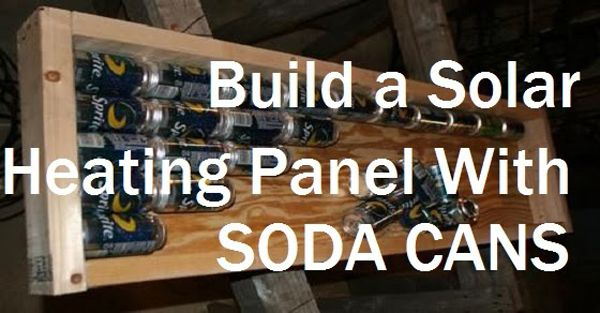 solar heat with soda cans